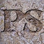 «Texto tallado en roca» proceso no destructivo a través de máscara de capa