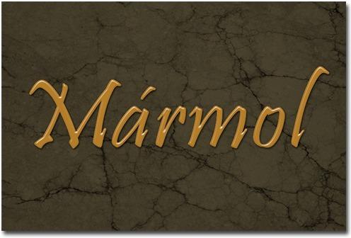 Texto de m rmol en base a estilos y filtros photoshop for Definicion de marmol